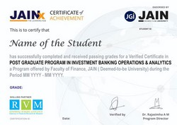 certification courses in investment banking