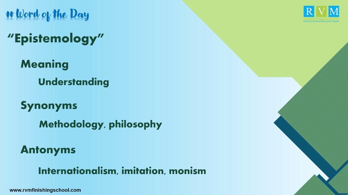 epistemology meaning